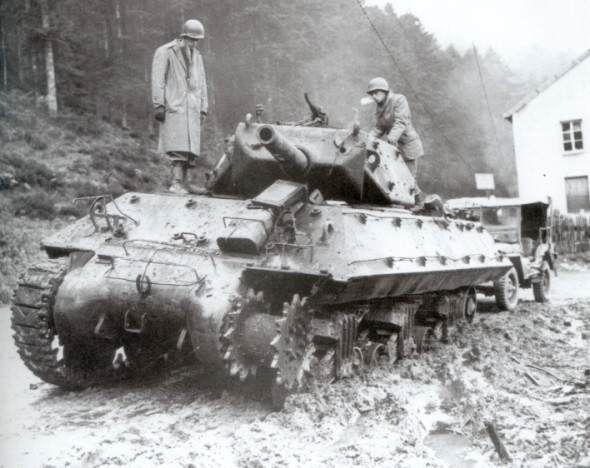Un M10 hors de combat