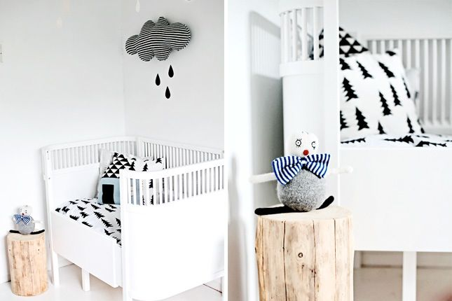 Just because you're decorating for a little one doesn't mean you need to sacrifice style points. In fact, the nursery is a great place to get super creative with a relatively small space. Whether you're creating bunting on the wall, making your own mobile, or filling the room with cute photos of baby animals, the possibilities for a well-designed nursery are surprisingly endless. Here are 25 ideas to inspire your own interior design creativity.