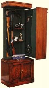 Hidden Gun Cabinet Lock and Load Gent's