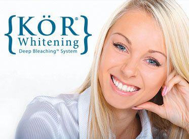 KöR Whitening Deep Bleaching™ System for a Brilliantly White Smile If you have been disappointed with the whitening methods you have tried in the past, you will be amazed with the KöR Whitening Deep Bleaching System. The results go beyond extreme! It has whitened teeth even with severe staining, such as from the use of the tetracycline antibiotic. Dr. Hekkert is among the first dentists in this area to use this procedure, and he is very pleased to offer it to his patients.  We also make…