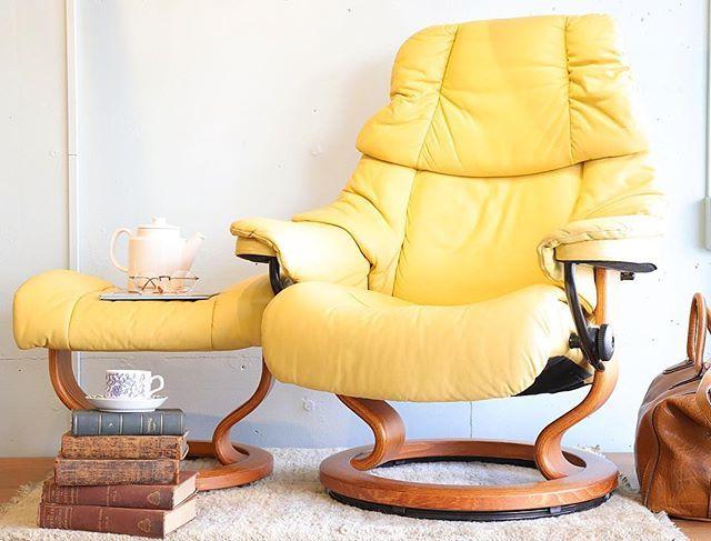 Ekornes Stressless Chair Reno エコーネス ストレスレスチェア ノルウェー リクライニングチェア リラックス 北欧デザイン 北欧家具 イッタラ イエロー ロールストランド 家具 椅子 ソファ 杉並区 リクライニングチェア 北欧家具 北欧デザイン