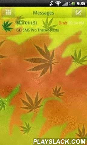 Theme Rasta For GO SMS Pro  Android App - playslack.com ,  Wilt u sms leuker? Zorg ervoor dat u het uiterlijk van uw mailbox te wijzigen. Van nu af aan sms zal je passie geworden. Als u houdt van de thema's gepresenteerd ganja en onkruid verschijning deze GO SMS PRO is voor jou. Door het gebruik van deze hen zul je altijd associëren met Bob Marley en de bloeiende velden van marihuana en ganja gras. Chill out, zij met u! Onze producten kunnen rustig ontspannen in stijl rasta en de grote…