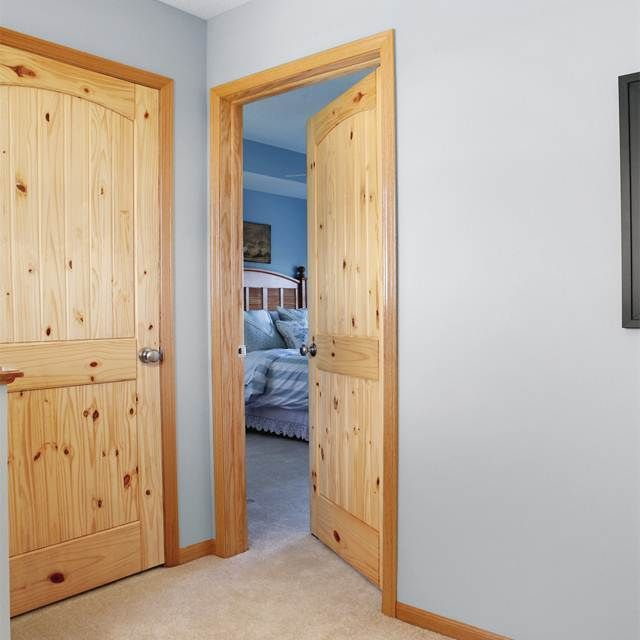 Knotty Pine Trim And Doors