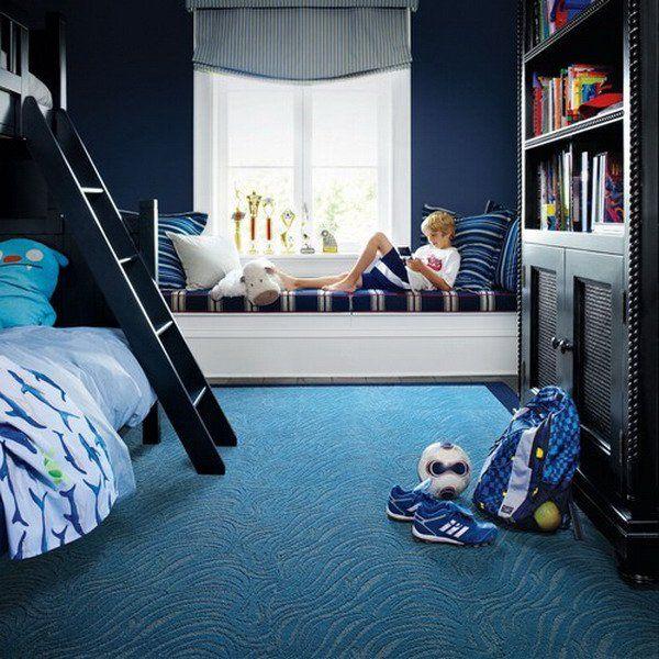 modern kids blue bedroom design 13