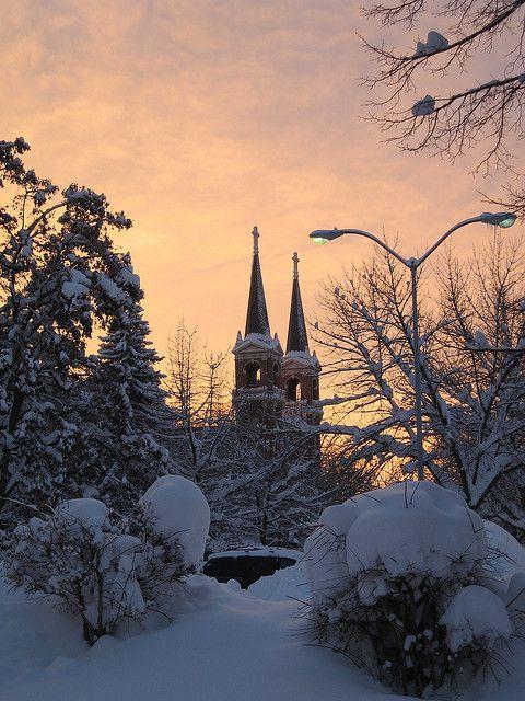 Gonzaga University Winter Sunset