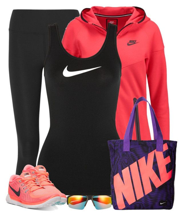 U0026quot;Nikeu0026quot; by cindycook10 liked on Polyvore featuring NIKE womenu0026#39;s clothing women female woman ...