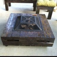 pallet patio furniture - Google Search DIY    Katie: build around fire bow; well not you, but someody like Daniel, Ernest, or James, or Brittany for you.