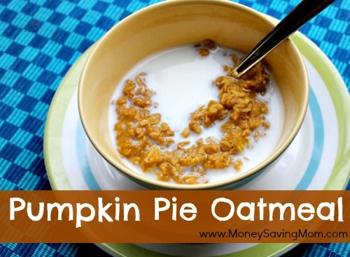 Super delicious pumpkin oatmeal - perfect for a chilly fall morning. My picky eater even gobbled it up!