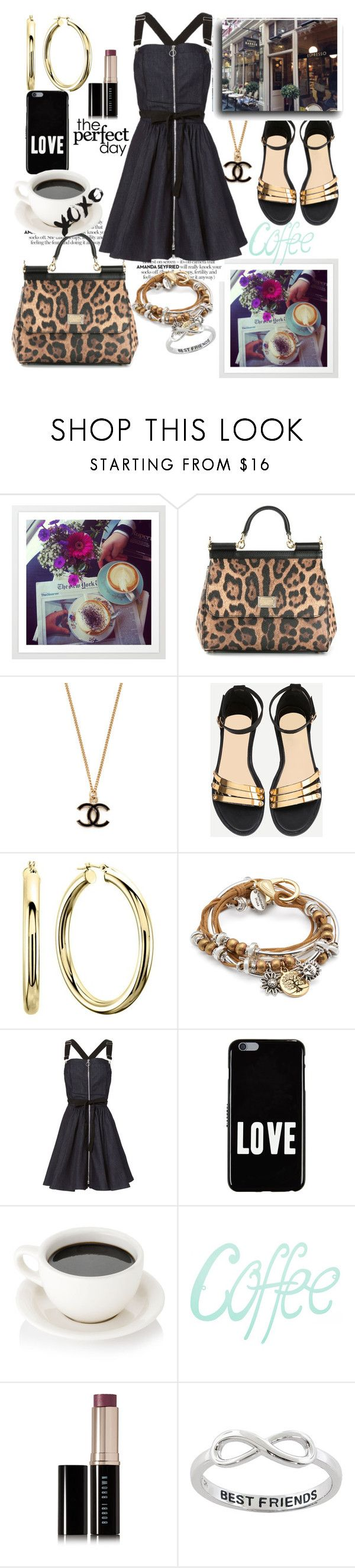 """Quick style...lil black dress"" by csfshawn ❤ liked on Polyvore featuring Dolce&Gabbana, Lizzy James, Adam Selman, Givenchy, Bobbi Brown Cosmetics, Eternally Haute and Barker"