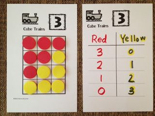 Math Coach's Corner: Composing and Decomposing Numbers: Cube Trains. Learning the combinations for numbers through 10 is an essential Kindergarten skill.  Read more and grab a FREEBIE!