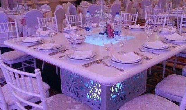 شركة تاجير كراسى الكويت 98077688 ضيافة الكويت Table Table Settings