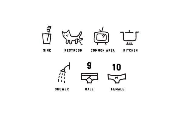 Hostel icon system by nami kurita