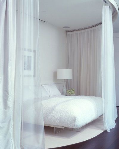 Sheer Curtains Over The Bed WILL Be A Factor Of My Home