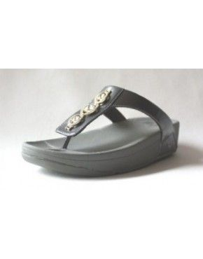 2014 Womens FitFlop Pietra Grey Sandals