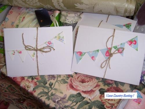 Cath Kidston Fabric Bunting Greeting Cards, Wedding Party Invitations New! | eBay