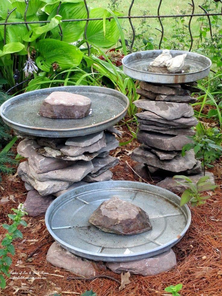 DIY Bird Baths ~ Bring Birds To Your Garden! #birdhousetips