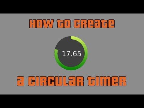 How to create a Circular Timer / Progress Bar - YouTube | 3d