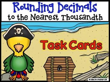 Rounding Decimals to the Nearest Thousandth Task Cards