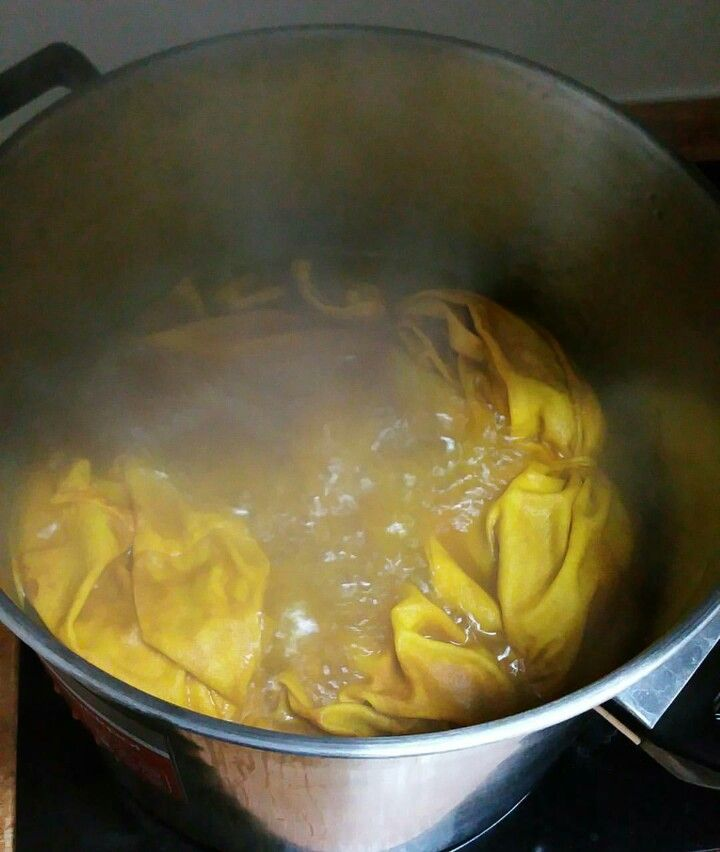 Boiling up some natural tumeric tie dye 💛💛💛💛💛💛💛 love that yellow!