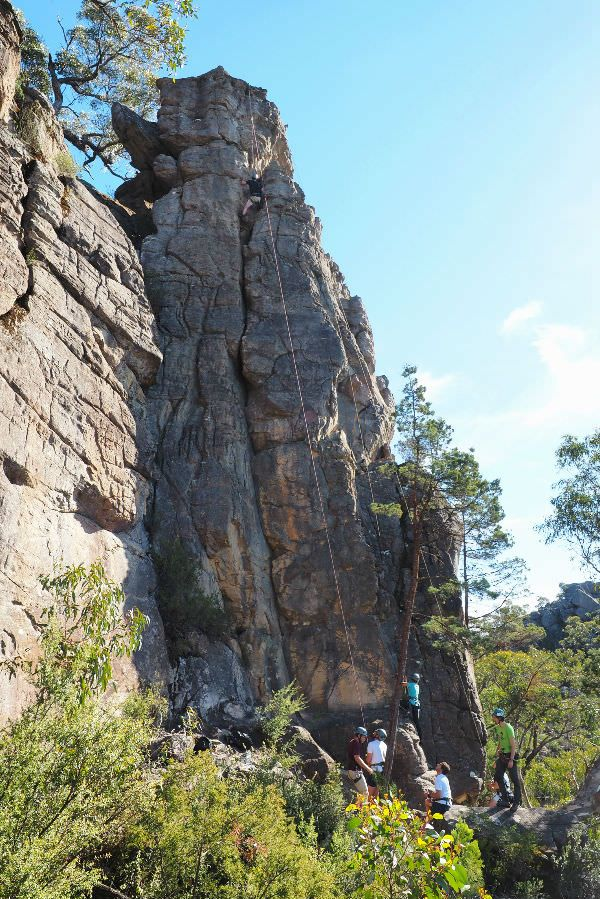 Learning to rock climb in the Grampians, see the full write up on AdventureMe. #rockclimbing #grampians