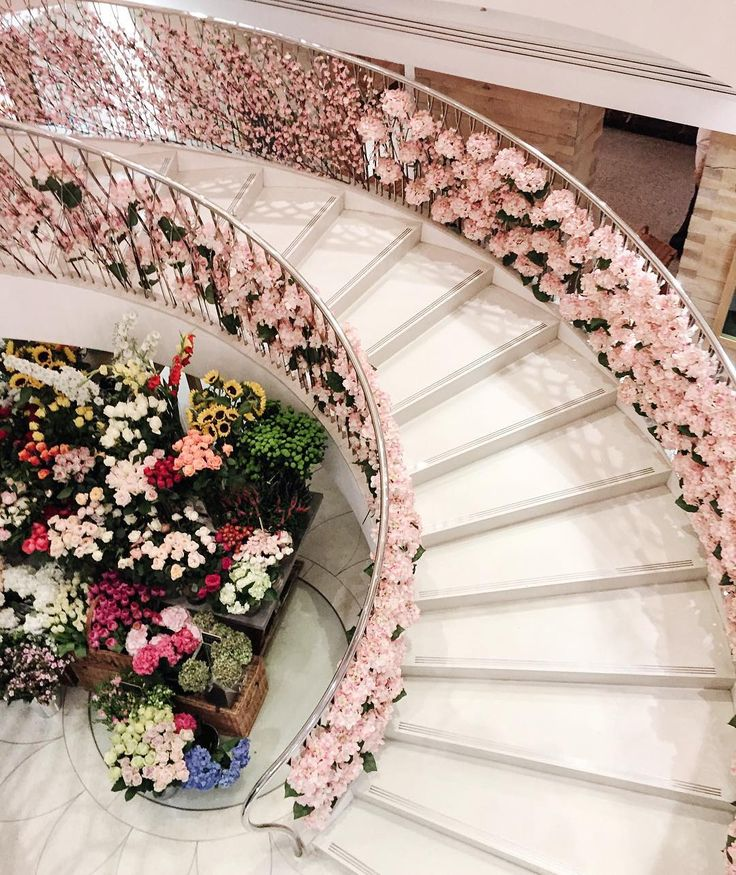 110 best Staircases Flowers Candles images on Pinterest