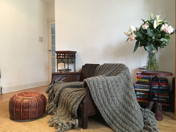 Excited to share King size Hand knitted 100% eco chunky wool blanket. Must have! Now on sale!Rustic. Wool knitt.Christmas present!