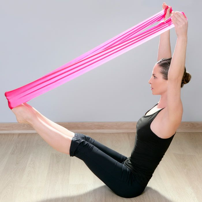The use of a resistance band is great for strength training, and can be used in so many ways!