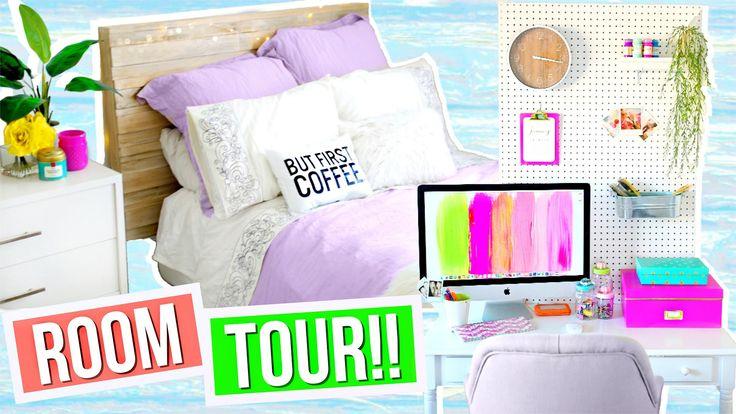 ROOM TOUR 2016!! Room Decor + Organization Ideas!! Alisha Marie