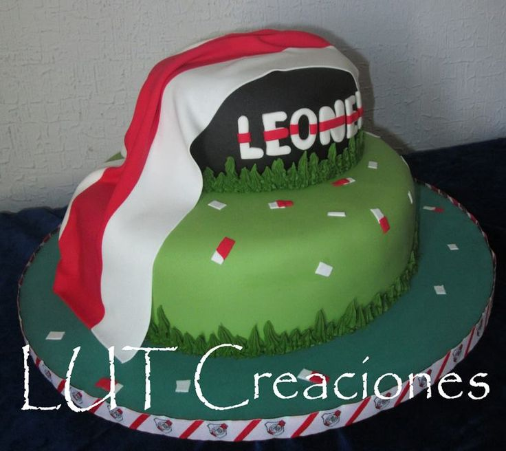 torta decorada river plate