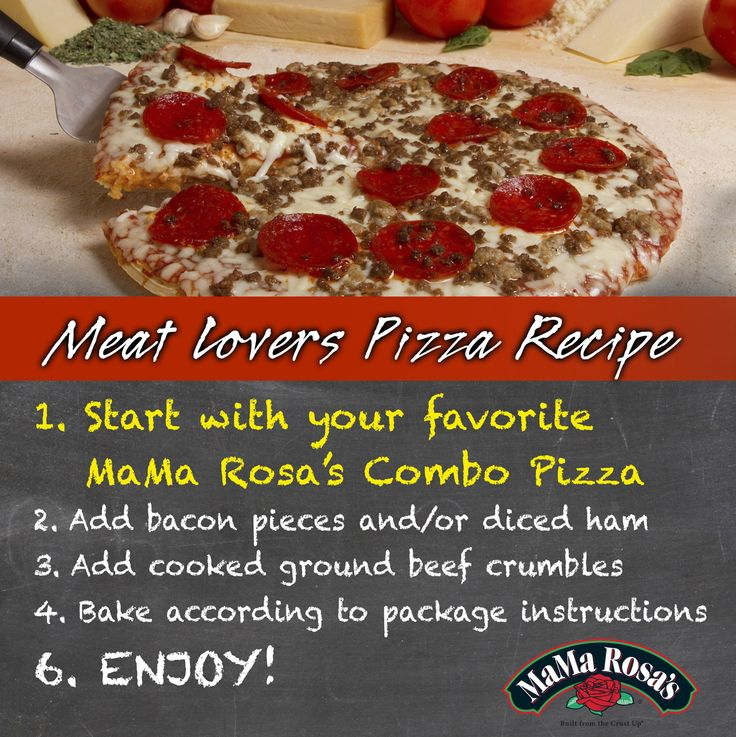 Easy Meat Lovers PIzza Recipe with MaMa Rosa's pizza base.