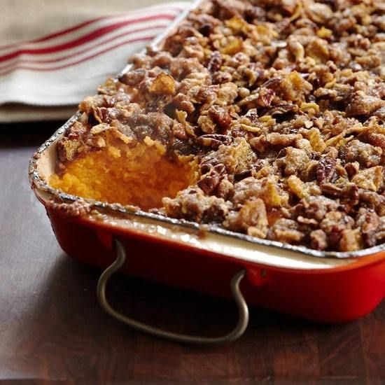 Southern Sweet Potato Casserole - I might try this struesel topping on half of the casserole I make just for a change