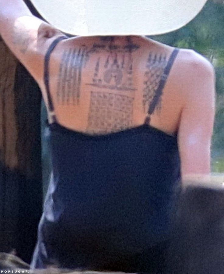 Angelina Jolie Debuts a Giant Back Tattoo in Cambodia — See the Photos!
