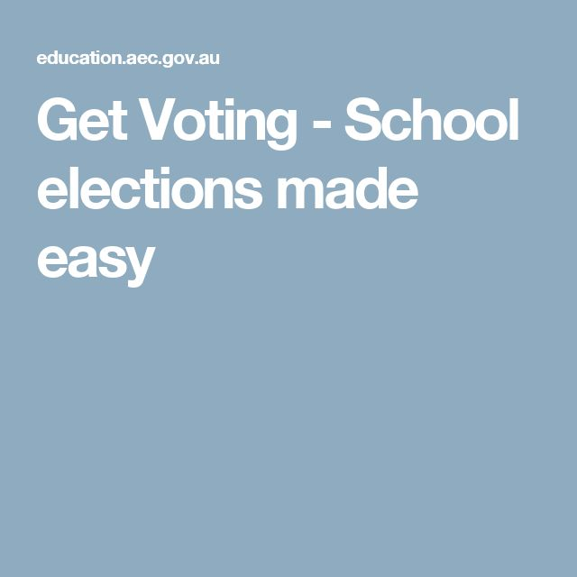 Get Voting - School elections made easy