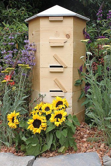 16.07.2013 - Beautiful beige bee hive - I observed dying and dead Bees and Bumble Bees during my bike rides to Lake Morp in Erkrath since ca. 2000 - and I revived weakened bees which came into our sitting room by a swab with honey etc... (dali48 on Pinterest)
