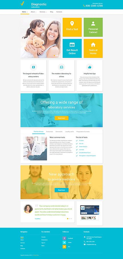 Medicalwebsite inspirations at your coffee break? Browse for more WordPress #templates! // Regular price: $75 // Sources available: .PSD, .PHP, This theme is widgetized #Medical #MostPopular #WordPress