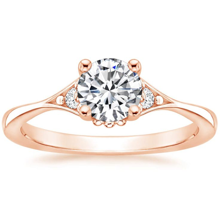 Lab Created Dolce Diamond Engagement Ring – 14K Rose Gold (Setting Price)