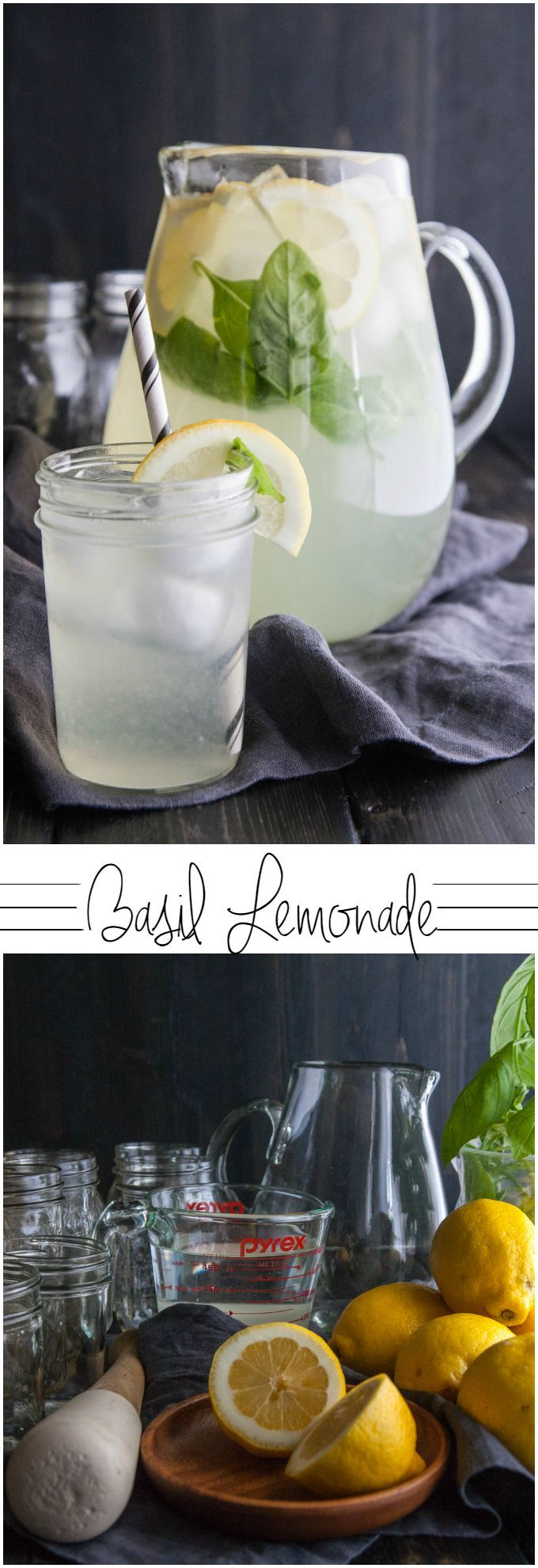 Basil lemonade from @sweetphi , lemonade recipe