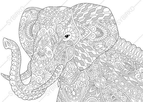 60 best Coloring Pages - Elephant images on Pinterest   Coloring ...