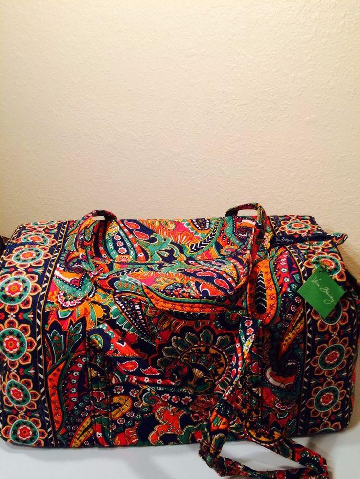 Vera Bradley VENETIAN PAISLEY Large Duffel Bag Duffle NWT #VeraBradley