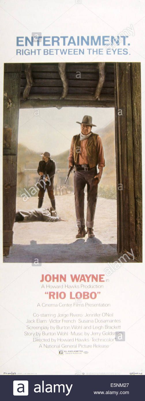 Lio Lobo, Us Poster, John Wayne (front), Jack Elam, 1970 Stock Photo, Royalty Free Image: 72391487 - Alamy