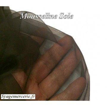 tissu mousseline de soie en 1 m 45 de largeur