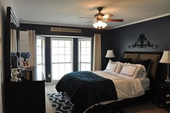 Dark Blue Master Bedroom interesting dark blue master bedroom this i painted throughout
