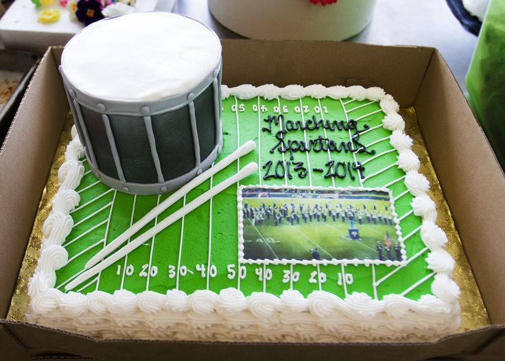 The Dewey's pastry chefs created this cake for a marching band! Cake # 005.