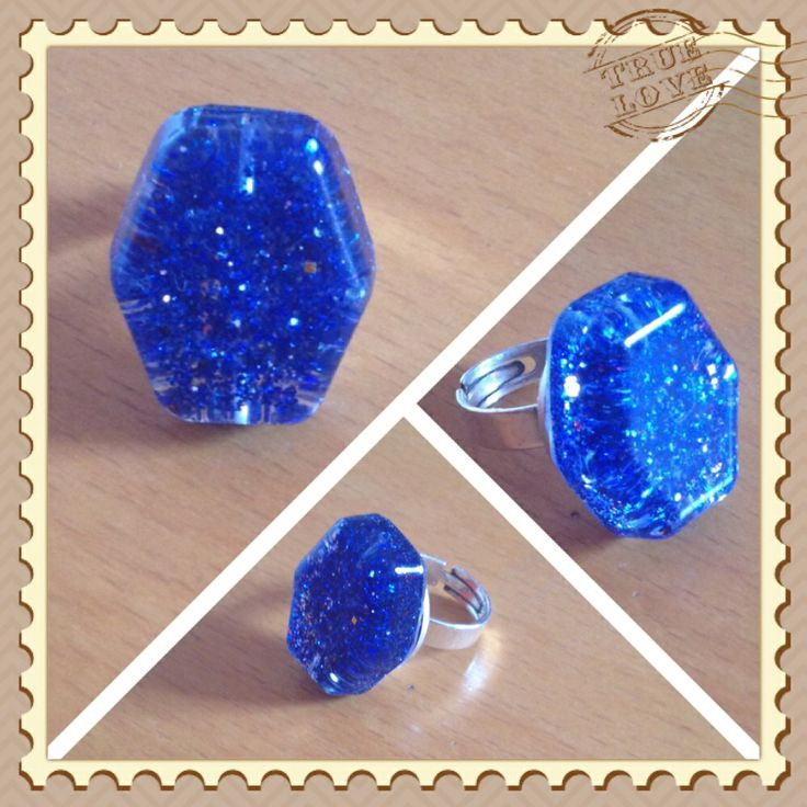 Blue Ring from glass !!