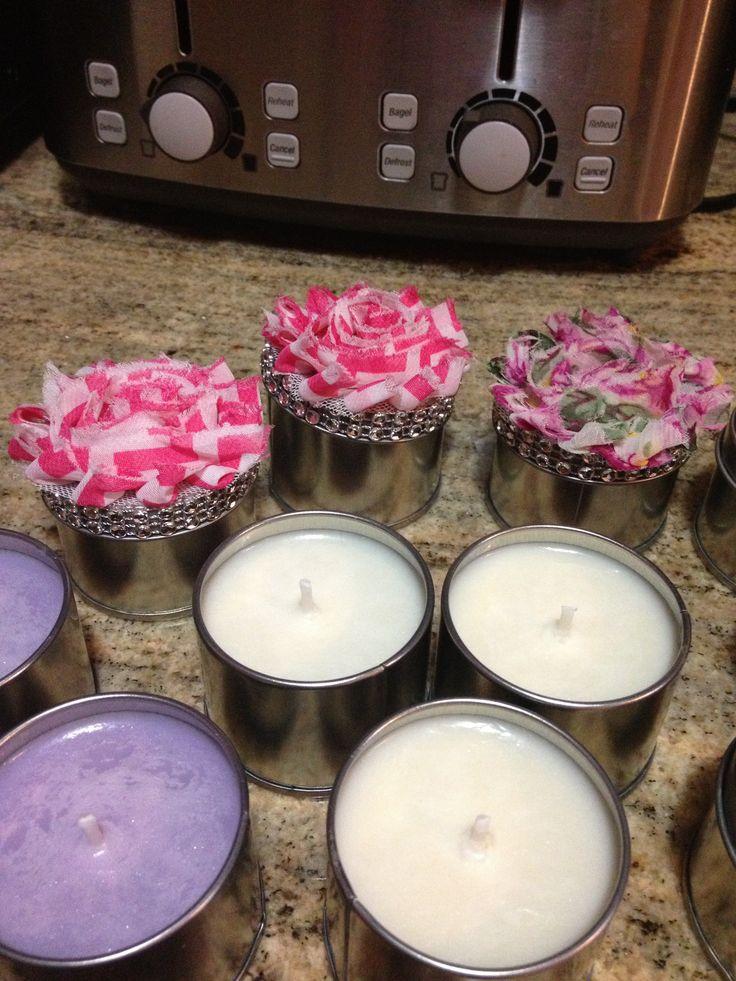 Bridal shower. Floral candles lavender scent. | JSO creations ...