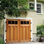 "GARAGE DOORS ARE ANOTHER ITEM OFTEN REPLACED WITH DISREGARD. HOMES BUILT BEFORE ABOUT 1900 FEATURED ""CARRIAGE HOUSES""—NOT GARAGES. THESE MOST ALWAYS EITHER SWINGING DOORS (FRENCH STYLE) AS SHOWN, OR SLIDING DOORS TO RECEIVE HORSE CARRIAGES. THIS APPROACH CONTINUED WELL INTO THE AUTOMOBILE ERA. A SOLID PANEL LIFT DOOR WAS FIRST OFFERED c.1906. LIFT TYPE SECTIONAL GARAGE DOORS WERE INVENTED MID-1900s. MODERN REPROS ARE AVAILABLE REPLICATING ONE OF THE OLDER STYLE-SEE MY COMMENTS ON BAY…"