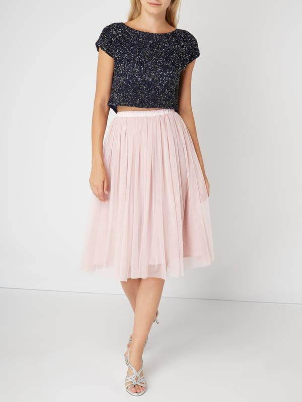brand new 20ae6 16460 LACE & BEADS – Midi-Rock aus Mesh – Rosa | ♡ clothes ♡ in ...