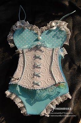 so pretty corset - #cardmaking