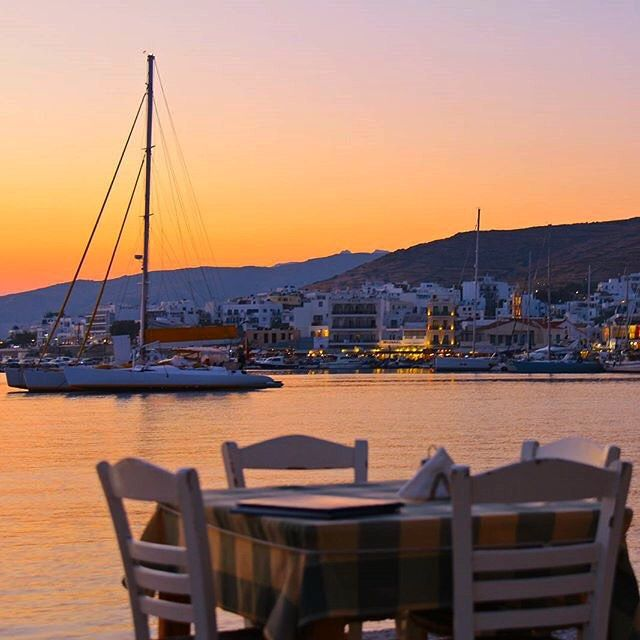 The best way to end your day at a Greek traditional tavern , in Tinos island (Τήνος) . This is the main port of the island and called Chora village , wonderful place .