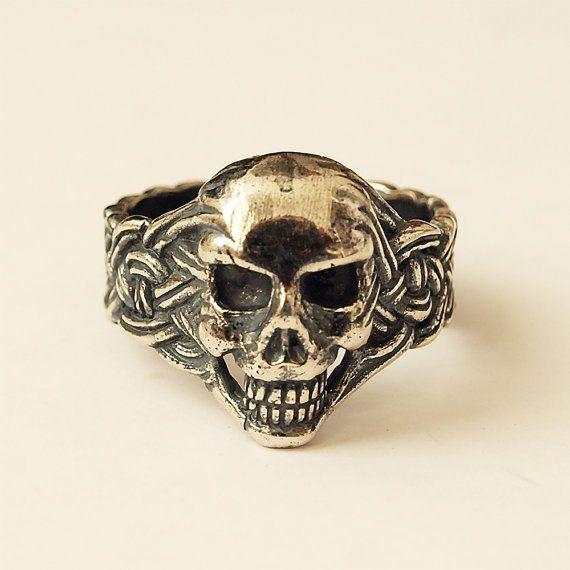 Skull ring Skull jewelry Skull Men skull ring by BDSartJewelry